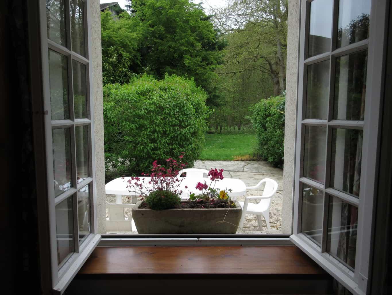 jardin depuis interieur